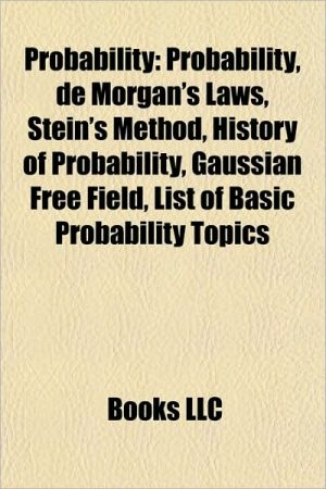 Probability: Applied probability, Named probability problems, Probabilistic arguments, Probabilistic models, Probabilistic software