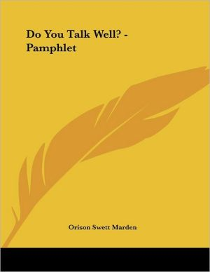 Do You Talk Well? - Pamphlet