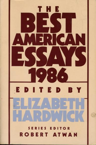 THE BEST AMERICAN ESSAYS 1986.