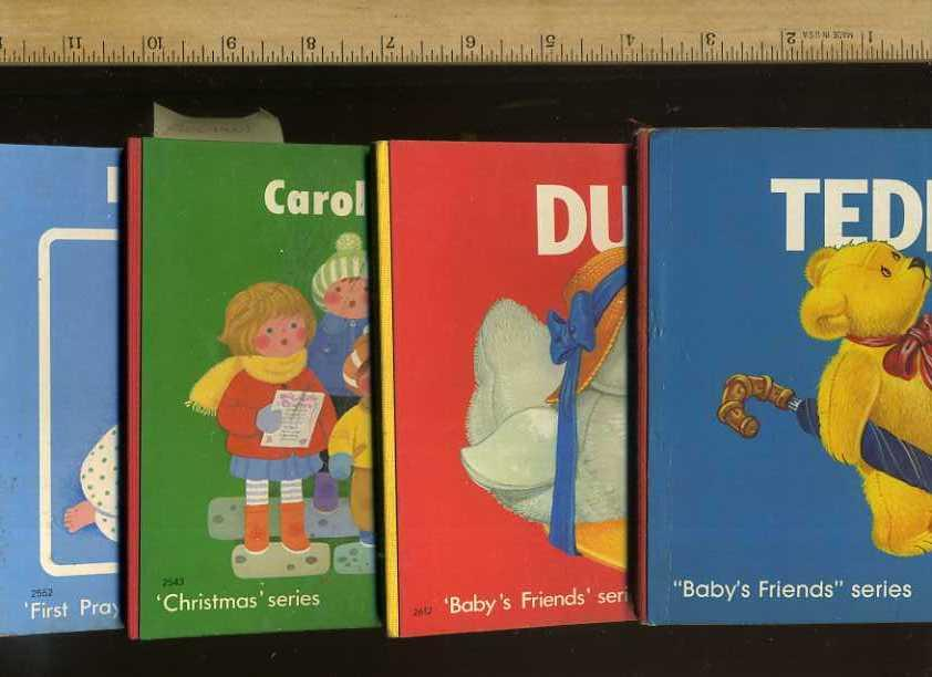 First Prayers Series; Dear God; Christmas Series: Carol Time; Baby's Friends Series: Duck; Baby's Friends Series: Teddy [Pictorial Children's Boardbook Readers, Brimax series] - Price Stern Sloan, Publishers; Brimax Rights Ltd / 4 Bks, Series
