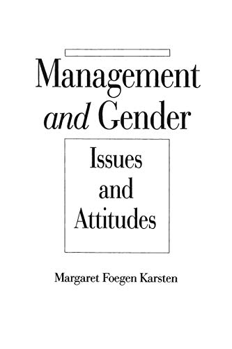 Management and Gender: Issues and Attitudes (Paperback) - Margaret Foegen Karsten