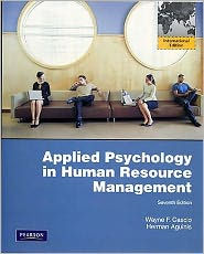 Applied Psychology in Human Resource Management: International Edition - Wayne F. Cascio