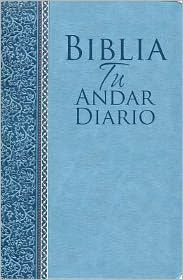 Biblia Tu Andar Diario Piel ESP. Color Azul Marino: Your Daily Walk Bible Bonded Leather Navy Blue - Editorial Unilit