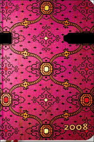 2008 French Ornate Fuchsia Mini Dayplanner Day at a Time - The Paperblanks Book Company