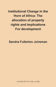 Institutional Change In The Horn Of Africa - Sandra Fullerton Joireman