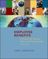 Employee Benefits: A Primer for Human Resource Professionals - Martocchio, Joseph J.