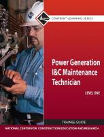 Power Generation Instrument and Controls Maintenance Technician Trainee Guide, Level 1 - National Center for Construction Educati