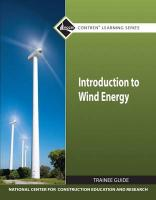 Introduction to Wind Energy Tg Module