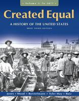Created Equal, Volume 1: A History of the United States