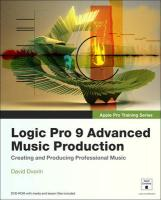 Logic Pro 9 Beyond the Basics