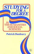 Studying for a Degree - Dunleavy, Patrick