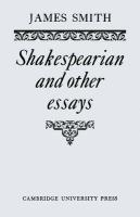 Shakespearian and Other Essays
