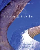 Form and Style: Research Papers, Reports, Theses