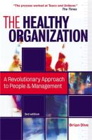 The Healthy Organization: A Revolutionary Approach to People and Management