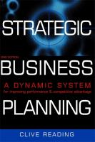 Strategic Business Planning - Reading, Clive