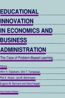 Educational Innovation in Economics and Business Administration: The Case of Problem-Based Learning