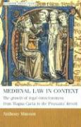 Medieval Law in Context - Musson, Anthony