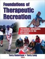 Foundations of Therapeutic Recreation
