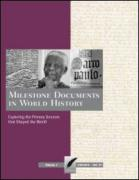 Milestone Documents in World History-4 Volume Set
