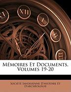 Memoires Et Documents, Volumes 19-20