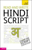 Teach Yourself Read and Write Hindi Script