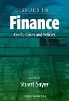 Issues in Finance: Credit, Crises and Policies