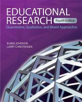 Educational Research: Quantitative, Qualitative, and Mixed Approaches