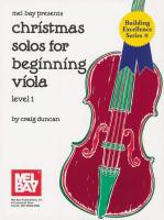 Christmas Solos for Beginning Viola: Level 1