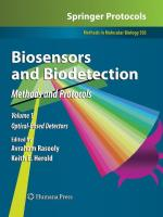 Biosensors and Biodetection: Methods and Protocols Volume 1: Optical-Based Detectors