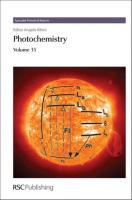 Photochemistry, Volume 38