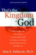 That's the Kingdom of God