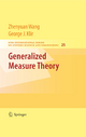 Generalized Measure Theory - Wang Zhenyuan;  George Klir
