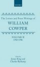 Letters and Prose Writing - William Cowper; James King; Charles Ryskamp