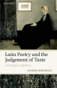 Latin Poetry and the Judgement of Taste - Charles Martindale