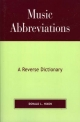 Music Abbreviations - Donald L. Hixon