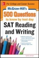 McGraw-Hill s 500 SAT Critical Reading Questions to Know by Test Day - Cynthia Johnson
