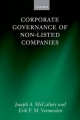 Corporate Governance of Non-listed Companies - Joseph A. McCahery; Erik P. M. Vermeulen