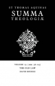 Summa Theologiae: Volume 29, the Old Law - Saint Thomas Aquinas; David Bourke; Arthur Littledale