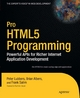 Pro HTML5 Programming - Peter Lubbers;  Brian Albers;  Frank Salim