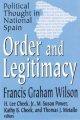 Order and Legitimacy - Francis Graham Wilson; H. Lee Cheek; M.Susan Power; Kathy B. Cheek