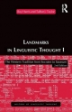 Landmarks in Linguistic Thought - Roy Harris; Talbot J. Taylor