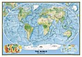 National Geographic Map The Physical World, enlarged, Planokarte