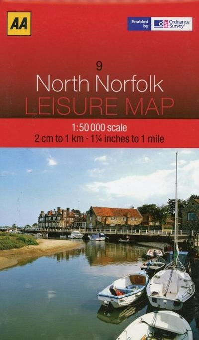 Leisure Map WK 09 North Norfolk 1 : 50 000