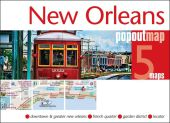 New Orleans PopOut Map, 5 maps