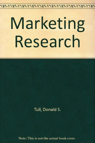 Marketing Research - Donald S. Tull