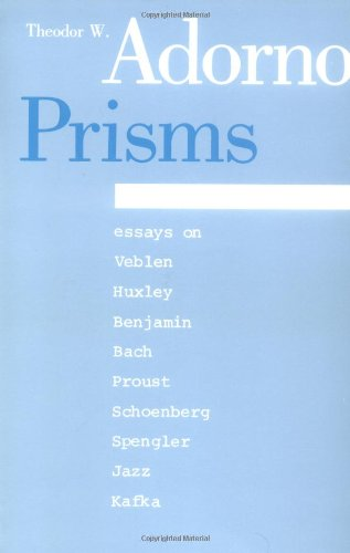 Prisms (Studies in Contemporary German Social Thought) - Theodor W. Adorno