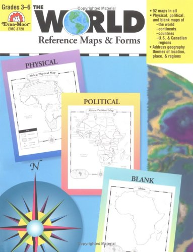 The World Reference  &  Map Forms - Evan Moor