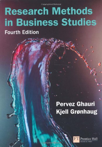 Research Methods in Business Studies - Pervez Ghauri, Kjell Gronhaug