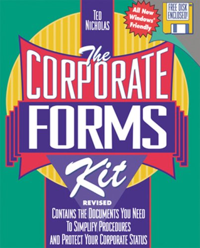 Corporate Forms Kit, Rev. (+ disk) - Ted Nicholas