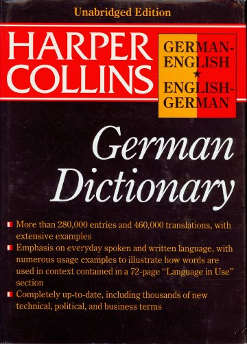 Harpercollins German English English German Dictionary (HarperCollins Bilingual Dictionaries) - Peter Terrell; Veronika Schnorr; Wendy V.A. Morris